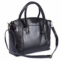 Wholesale Smile Fashion Handbags - Fashion Women Crocodile Patchwork Business Tote Ladies OL Party Handbag Shoulder Messenger Smile Face Leather Bag