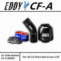 Wholesale Carbon Fiber Cruze Chevrolet - Fit For Chevrolet Cruze 1.6T 10-13 Fine Quality Racing Brand EDDYSTAR EDDY Carbon Fiber Cold Air Intake System Air Filter