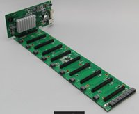 Wholesale Pci Slots - 2017 hot 9 PCIE16x slot motherboard - suitable for Eth, Zec and SC double digging9 slot mining board Graphics