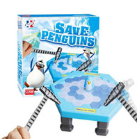 Wholesale Interactive Penguin - Penguin Trap Game Interactive Toy Ice Breaking Table Plastic Block Games Penguin Trap Interactive Family Game Buidling Blocks Toy #QY01
