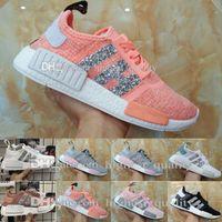 Wholesale Mens Kicks - 2017 Cheap New NMD Runner R1 Primeknit White OG Black Nice Kicks Mens Women Running Shoes Sneakers Originals Classic Casual Shoes size 36-40