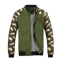 Wholesale Spring Military Jacket Men - Jacket Men 2017 New Spring Mens Jacket Fashion Jacketmen Cotton Outerwear Coats Patchwork Military Camouflage Jacket For Men
