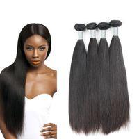 Wholesale Soft Bundle - 4 seasons beauty Straight Soft Human Hair Weave Uglam Hair 4 Bundles Peruvian Virgin Human Hair Bundles Dyeable Free Shipping Sexy Formula