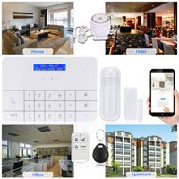 Wholesale Digital Display Keyboards - Wireless GSM Alarm System with Monitoring & Intercom by SMS & Free APP Matrix LCD Display Digital Touch Keyboard RFID Tag