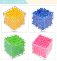 Wholesale Mini Brain - Wholesale- Creative Maze Magic Cube Puzzle 3D Mini Speed Cube Labyrinth Rolling Ball Toy Puzzle Game Exploration Brain Teaser Learning Toys