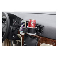 Wholesale Vent Air Bottles - New Arrival Car Water Bottle Cup Glass Outlet Air Vent Phone Holder Car Drink Bottle Holder