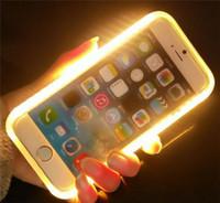 Wholesale Iphone 5s Led Cases - Fashion Light Flash Luminous Case LED Phone Protective Cover for iPhone 5 5S 6 6s Plus 7 Plus 8 8Plus X