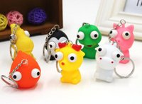 Wholesale Pop Eyes Animal Toy - decompression toys winking doll (with keychain) pendant small animals Stress Relief Eye Popping Large Decompression Squeeze Toy WD280