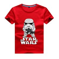 Wholesale Star Boys Top - 2017 movies Star Wars children boys t shirt kids Star Wars Printed shirt kids clothes boys t-shirt top children clothing enfant Short-sleeve