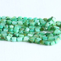 """Wholesale Jade Stone Faceted Beads - Natural Genuine Raw Mineral Grass Green Australia Jade Chrysoprase Hand Cut Nugget Free Form Loose Rough Matte Faceted Beads 5-7mm 15"""" 05293"""