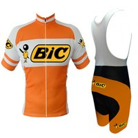 Wholesale Bic Cycling Jersey - 2017 men BIC cycling jersey set 3D gel pad short-sleeve summer cycling wear cycling clothing Cycle mtb road ropa ciclismo maillot