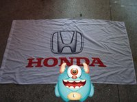 Wholesale Polyester Car Flags - HonDa car logo flag,HonDa car racing club flag, 90*150CM polyster banner 100% polyester