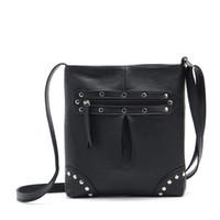 Wholesale Ladies Stylish Bags Wholesale - Wholesale- BEST Women Leather Handbags Stylish Rivet Satchel for Ladies Cross Body Messenger Bag Bolsa Saco #9220