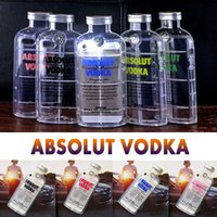 Wholesale Iphone Case 3d Crystals - 3D Transparent ABSOLUT VODKA Case Wine Beer Bottle Design Soft TPU Clear Crystal Shockproof Cover For iPhone 6 6S Plus SE 5S 5