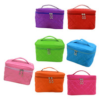 Wholesale New Zipper Cosmetic Storage Make up Bag Handle Train Case Purse S