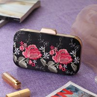 Wholesale Flora Bags - Wholesale -Korean Wedding Handbags Bridal Holding Purse Bags Flora Printed Shoulder Bags with Chains Lady Women Formal Party Bags CPA953
