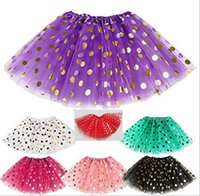 Wholesale Pettiskirt 5t - 2016 girls gold polka dot tutu skirt baby christmas tutus kids tutu skirts toddler skirts red infant pettiskirt newborn photography props