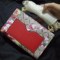 Wholesale Red Padlock - blooms Tian padlock bag chain crossbody shoulder bags women flower printing handbags high quality famous brands flap messenger bags