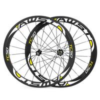 Wholesale Bike Carbon Wheels Sale - AWST HOT sale 50mm 700C brake carbon wheels road bicycle carbon wheels clincher tubular road wheelset chinese bicycle wheels basalt surface