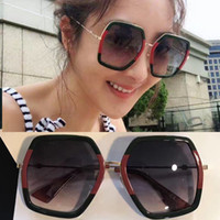 Wholesale Ladies Leg Sunglasses - Luxury Brand Women Designer 0106 Sunglasses Fashion Polygonal Frame Mixed Colour Sun Glasses Summer Retro For Ladies Honeybee Sign on Legs