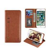Wholesale Iphone Wallet Designs - New Design Excellent Quality Leather Wallet Case Multifunction Phone Bag Case For iPhone 6 6S Plus 7 7 Plus For Samsung Galaxy S8