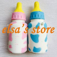 Wholesale Ship Bottle Charm - squishies wholesale 10pcs rare squishy jumbo lot 14cm milk bottle squishy with tags charm kids toys squzee gift bag pendant Free Shipping