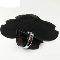 круглые дисплеи оптовых-100 PCS 38 мм круглое пластиковое кольцо Диски с экранами для звонков с реквизитами ювелирных украшений Прозрачный цвет черный