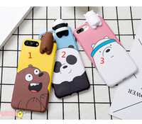 Jouets 3D Panda Bear Phone Case pour iPhone 7 7plus 6 6s Plus Cute Cartoon BBF IMD Soft TPU Cover Fundas