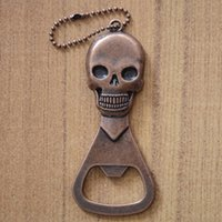 Wholesale Beer Promotion - Hot sale creative gift promotion products cool skull beer opener bottle saves the convenience and utility Classic modelling
