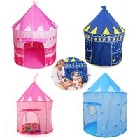 Enfants Beach Tent Indoor Outdoor Toys Tents House For Baby Playing Game Printemps Princesse Prince Princesse Cadeaux magnifiques