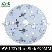 Wholesale heat sink aluminum base plate resale online - 10pcs W LED Heat Sink Bulb lamp plate LED PCB DIY Palte Base For W W HighPower Beads Aluminum Plate for led bulb spotlight