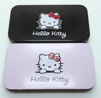 ingrosso migliori set di spazzole-Miglior prezzo 7 Pz set Hello kitty Make Up Pennello cosmetico Kit pennelli trucco Rosa nero bellezza elettrodomestici pennello trucco in magazzino DHL LIBERO