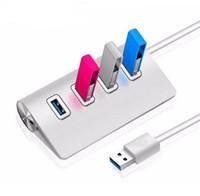 Wholesale Usb Imac - USB Hub 4-Port USB 3.0 Portable Aluminum Hub High Speed Data Splitter for iMac, MacBook, MacBook Pro, MacBook PC Computer