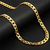 18k platin kaplı zincir toptan satış-Klasik Küba Bağlantı Zinciri Kolye 18K Altın / Pembe Altın / Platin Kaplama Moda Erkekler Takı Kalça mükemmel Aksesuarları Parti Hediye Hop