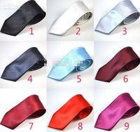 Wholesale Neck Ties 7cm - 7CM Mens Necktie Neck Tie Fashion Solid Color Wedding Ties Men Accessories MOQ 12 pcs Free Shipping