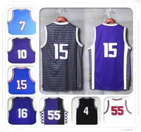 Wholesale Cheap Stitched Sports Jerseys - 2017 New Stitched Swingman 15 DeMarcus Cousins SW Williams 55 Webber 4 Bibby 10 Jersey Stojakovic 17 Cheap Retro Sport Wholesale Rugby