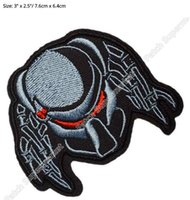 "Wholesale Alien Comic - 3"" PREDATOR ALIEN ARNOLD Movie TV Series Embroidered iron on patch cosplay transfer COMICS APPLIQUE"