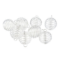 Wholesale diy for sale - Group buy ilver Plated Spiral Bead Cages Pendants x24mm Jewelry Findings New Jewelry making DIY