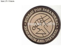 "Wholesale Party Deserts - 3"" HELLBOY BPRD AGENT DESERT CAMO Movie TV Show Series Costume Embroidered iron on patch Tshirt TRANSFER APPLIQUE party favor"