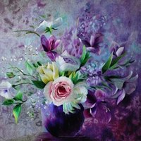 diy elmas boyama çapraz dikiş çiçekler toptan satış-5d oya diy elmas boyama çapraz dikiş kitleri tam reçine kare elmas nakış mozaik ev dekor çiçek gül zf0103