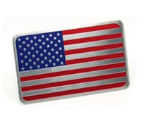 Wholesale American Flag Body - High Quality Aluminum alloy Sticker American Flag United State Flag Car Motorsport Sticker Label Emblem Badge car styling [three size]