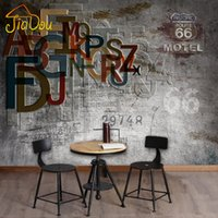 Wholesale Photo Print Stores - Wholesale- Custom Photo Wallpaper 3D Stereoscopic Retro Nostalgia Wall paper KTV Cafe Bar Personalized Clothing Store Large Mural Wallpaper