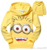Wholesale Despicable Shirt Kids - Wholesale - High quality 6pcs lot 2018 despicable me 2 minion boys t shirt girls nova t-shirts kids children t shirts child Spring hoodies.
