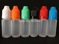 Wholesale Short Plastic Bottles - Wholesale- 10ml LDPE Soft Plastic Dropper Bottles, 10ml Eye Drop Bottles With Childproof Cap and Short Coarse Tip for E juice, 100pcs lot