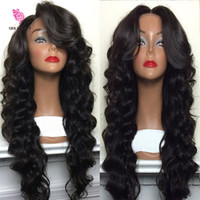 Wholesale Cheap Full Wigs Black Women - 8A Glueless Cheap Full Lace Wig Brazilian Deep Body Wave Lace Front Wigs With Baby Hair For Black Women Best Full Lace Wig