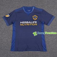 bb9b142757a Soccer Men Short LA Galaxy Away Football Soccer Jerseys Blue Shirt