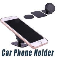 Wholesale Adhesive Cars - Car Phone Holder Stand Magnetic Dashboard Mount Magnet Phone Support With Adhesive For Universal Cell Phone