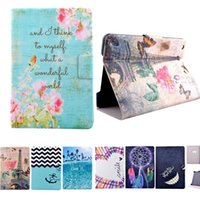 Wholesale Cute Leather Case For Tablet - High Quality Cute Flower Pattern Flip pu Leather Smart Stand Shell Cover Case for Apple Ipad 2 3 4 mini 1 2 3 Air 1 2 Tablet case