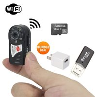 Mini videocamera portatile di spia P2P WiFi IP Camera + Bundle 16GB SD CARD + lettore USB Indoor / Outdoor HD DV nascosto Spy Cam era registratore video 1080P