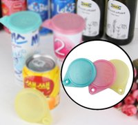 Conjunto de 3PCS Drink Can Lids Plastic 6cm Food Bottle Covers Jars Caps Reusable Storage Cap Top Can Openers Multi-functional Wholesale 20set